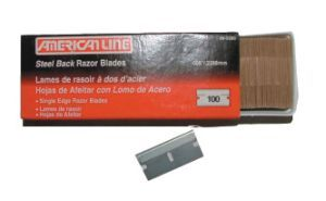 Razor Blades- - 100 Per Box (single edge)