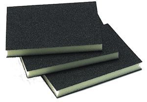 Double Sided Abrasive Sponge - 3.75 X 4.75 X .5 Box/100 - 220 Grit
