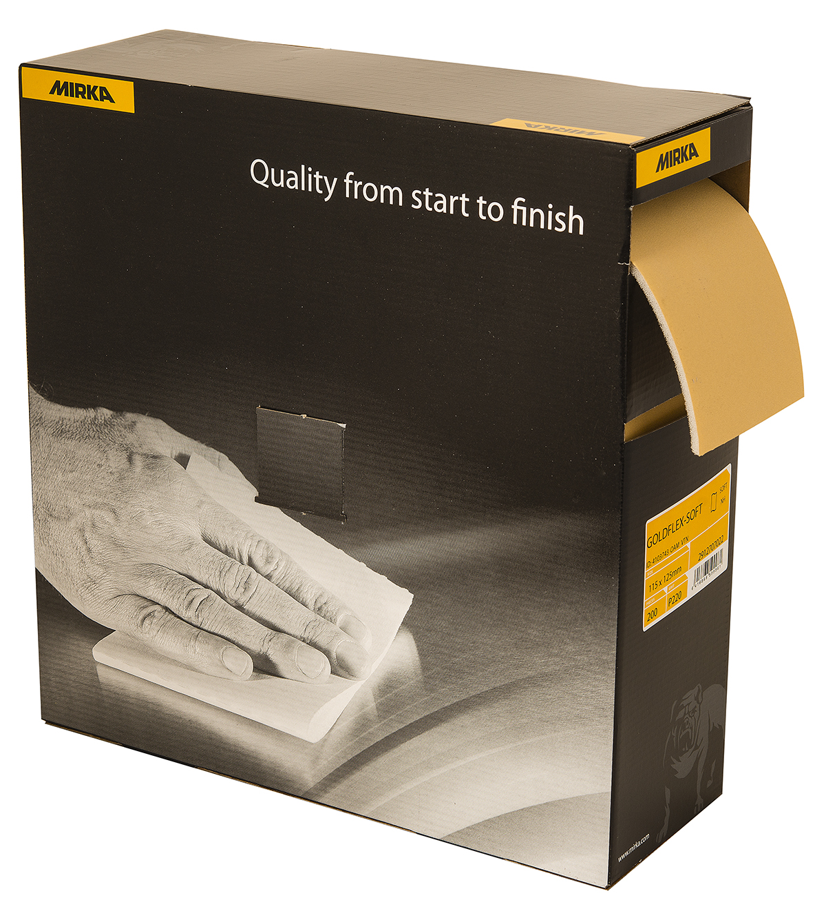 GoldFlex Soft Pad - 4.5 X 5 320 Grit - 200 Pads Auto Dispense Box